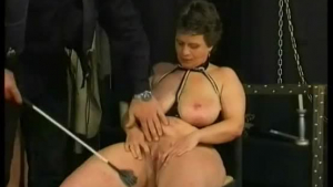 April Snow is sitting on a huge sex machine in a hotel, while her new partner is sitting