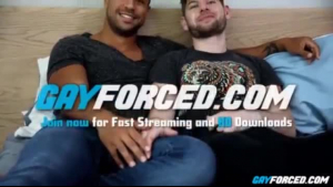 Interracial couple in deep anal