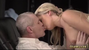 Blonde milf with red hair and hairy pussy is getting fucked the way she always dreamed she was in