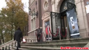 Charming Amsterdam hooker spoiling tourists with her big boobs