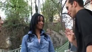 British chick, Mary would not say no to an outdoors threesome with her black lover